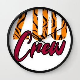 Zoo Crew Animal-lover Wall Clock