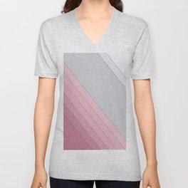 Gray , white , mixed Unisex V-Neck