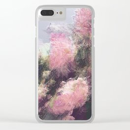 Wild Roses in Motion - Glitch Clear iPhone Case