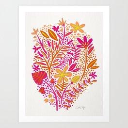 Garden – Citrus Palette Art Print