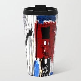 Jean-Michel Basquiat - Obnoxious Liberals , 1982 Travel Mug