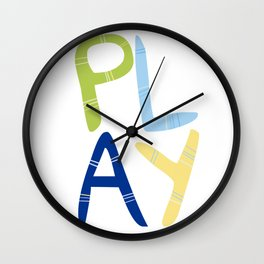 Play Nersery art Wall Clock