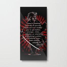 Miyamoto Musashi Samurai Metal Print