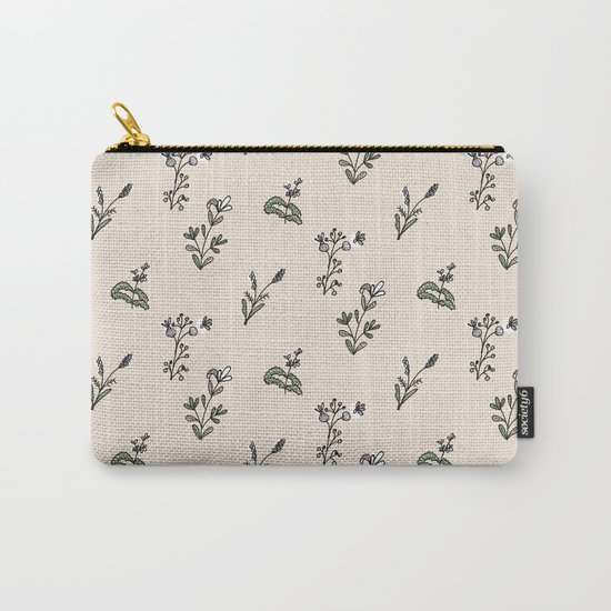 Bright Floral Pattern Carry-All Pouch