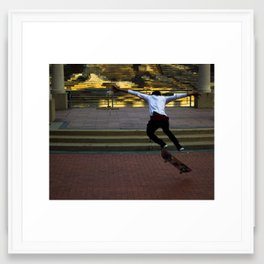 City Skater Framed Art Print