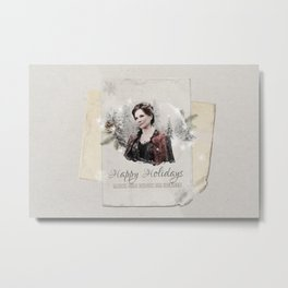 OUAT HAPPY HOLIDAYS // CORA Metal Print