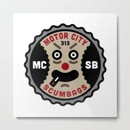 Motor City ScumBags Logo Metal Print