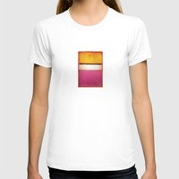 rothko T-shirts featuring Mark Rothko - White Center by bosphorus