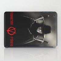 vendetta iPad Cases featuring V for Vendetta (e2) by Ezgi Kaya