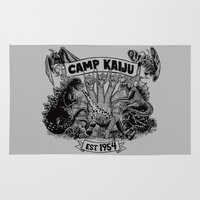kaiju Area & Throw Rugs featuring Camp Kaiju by Austin James