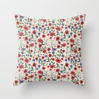 poppies Throw Pillows featuring Poppies by moniquilla
