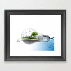 Echo Energy Framed Art Print
