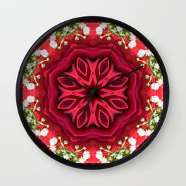 Rose Mandala - The Mandala Collection Wall Clock