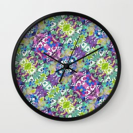 Colorful Modern Floral Print Wall Clock