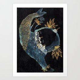 Fish City III Art Print