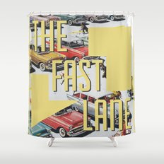 The fast lane Shower Curtain