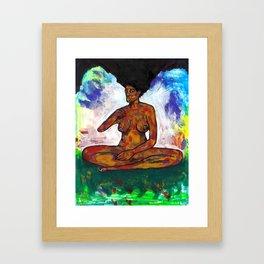 2020 Over Standing Meditation Peace by Marcellous Lovelace Framed Art Print