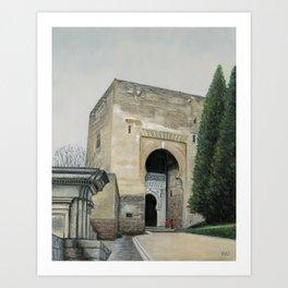 Gate of Justice, Granada, Spain Art Print