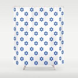 Star of David 2- Jerusalem -יְרוּשָׁלַיִם,israel,hebrew,judaism,jew,david,magen david Shower Curtain