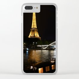 Eiffel Tower At Night 6 Clear iPhone Case