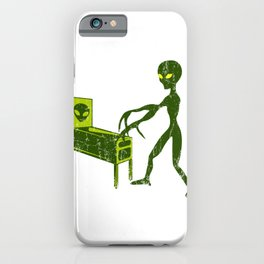 GAMING PINBALL Alien Sci-Fi Space Gift UFO Lover iPhone Case