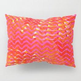 Fizzy pink fan Pillow Sham