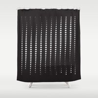 moon phases Shower Curtains featuring moon phases 2015 by DAMlab