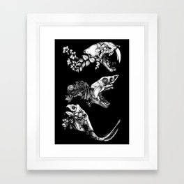 Prehistoric Bloom (Black version) Framed Art Print