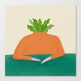Veg head Canvas Print