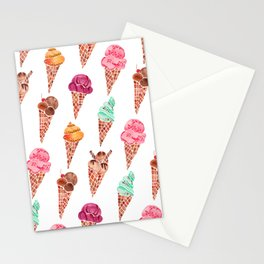 Ice Cream Cones – Rainbow Palette Stationery Cards