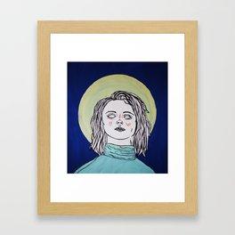 Turtleneck & Moon Framed Art Print