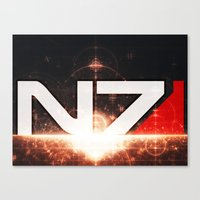n7 Canvas Prints featuring Mass Effect N7 by Anthony.Ch