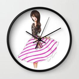 Striped skirt Wall Clock