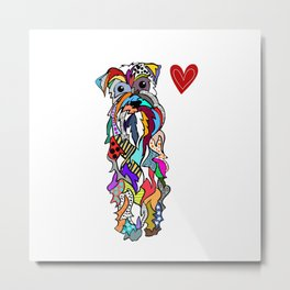 Oh Schnauzer my love Metal Print