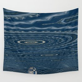 Green and Snowblue Egg 4 Wall Tapestry