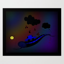 Let the words and pictures flow. (2) Art Print