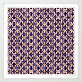 Traditional Japanese pattern HANA-SHIPPO Art Print