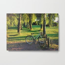 Sunrise at the forest Metal Print
