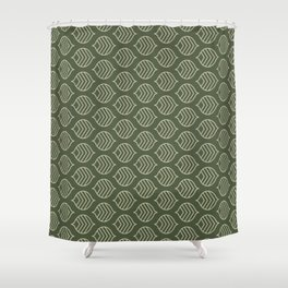 Olive Scales Shower Curtain