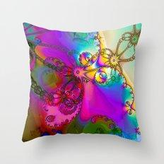 Turbulent color 2 Throw Pillow