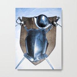 SHIELDS, HELMETS AND SWORDS Metal Print