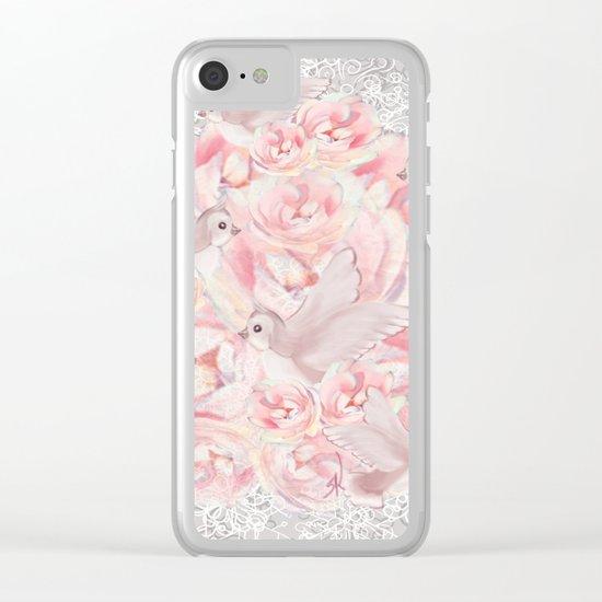 Rose Birds Clear iPhone Case