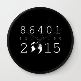 86401 Leap Second 2015 (white version) Wall Clock