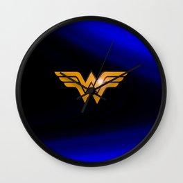 WonderWoman emblem insígnia Wonder Gold, Diana Prince, warrior princess of the Amazons Wall Clock
