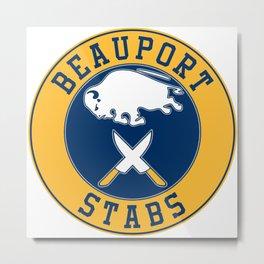 Beauport Stabs (Sabres Logo) Metal Print
