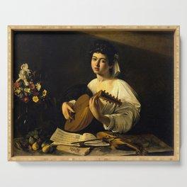 """Michelangelo Merisi da Caravaggio """"The Lute Player"""" Serving Tray"""