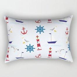 Nautical Collage Rectangular Pillow