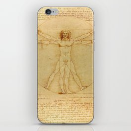 "Leonardo da Vinci ""The Vitruvian Man"" iPhone Skin"