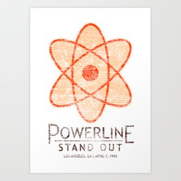 Powerline Stand Out Tour Art Print