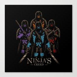 Ninja's Creed Canvas Print